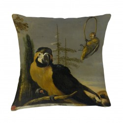 "Kudde ""Yellow Macaw"" – Grevinnans Butik & Inredning"