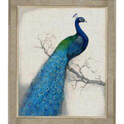 """Tavla """"Peacock Left"""" – Grevinnans Butik & Inredning"""